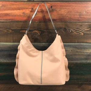 Women's Hobo Handbag in Blush w/gray accent colors